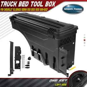 Left Truck Bed Storage Box Toolbox For Chevy Silverado Gmc Sierra 1500 1999 2007
