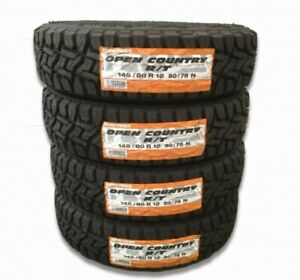 4x 14580r12 Toyo Open Country Rt 145r12 Tires Snow Mud Suv Tire For Off Road