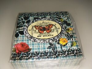Demdaco Be Brave Memo Pad Box Butterflies And Flowers A Little Bird Told Me