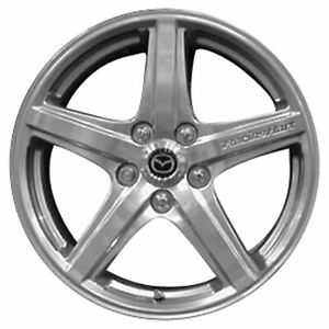 Reflecta Chrome Full Face Painted 5 Spoke 17x7 Factory Wheel 03 03 Mazda Protege