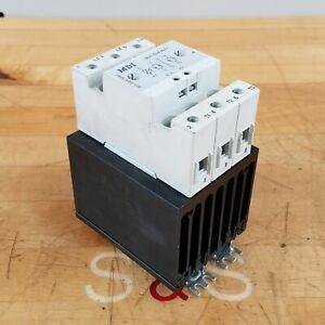 Mdi 2pss60a40 Solid State Relay 2 Pole 600 Vac 3 Phase Used