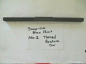 Vintage Blue point No2 Sae Thread Restoring File Made In Usa Snap on Tool Co