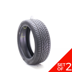 Set Of 2 Used 225 45zr19 Continental Extremecontact Dws06 92w 7 32