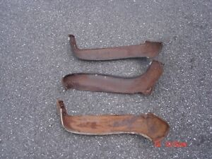 1966 67 Chevelle Gto 442 Bucket Seat Metal Side Apron Covers All Need Work Rusty