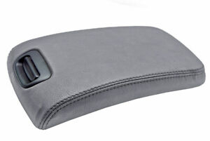 Console Lid Armrest Cover Leather For Nissan Maxima 2000 2003 Gray