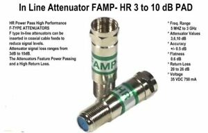 Holland Fam 3hr 3 Db Power Passing In Line Attenuator Famp 3hr Pack With 10