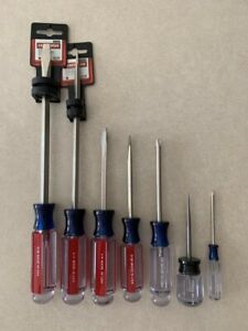 Craftsman 8 Pcs Screwdriver Set 5 16 1 4 3 16 Awl Slotted Philips Made In Usa