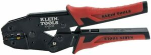 Klein Tools 3005cr Wire Crimper Tool Ratcheting Insulated Red And Black