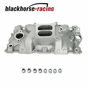 Fit 1957 1986 Sbc Chevy Dual Plane Aluminum Intake Manifold 327 305 350 400