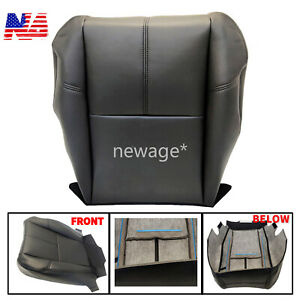 New Driver Bottom Leather Seat Cover For 2007 2013 Chevy Silverado 1500 2500 Hd
