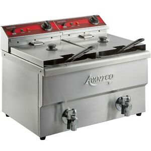 Avantco F202 30 Lb Dual Tank Medium duty Electric Countertop Fryer