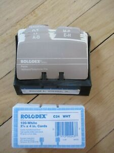 Vintage Rolodex Petite File S300 Black Usa W Replacement Cards New Sealed