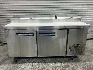 70 Refrigerated Pizza Prep Table 2 Door Nsf 1 3hp Cold Topping Rail Tpp70 5437