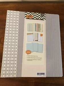 Basic Grey Capture 7x9 Journal W tabs Dividers Divided Page Protectors new