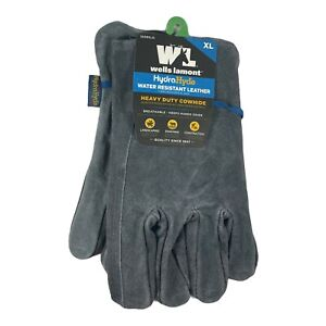 Wells Lamont Hydra Hyde Water Resistant Leather Gloves Gray xl