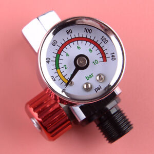 Car 1x Air Regulator Pressure Gauge Compressor Fit For Devilbiss Iwata 0 140 Psi