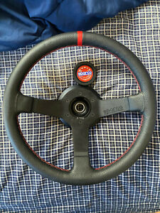 Sparco Steering Wheel Champion 330mm 66mm Dish perforated Leather