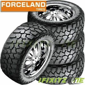 4 New Forceland Kunimoto M t 35x12 5x20 121q Mud Tires Lre 10 ply Truck Pickup