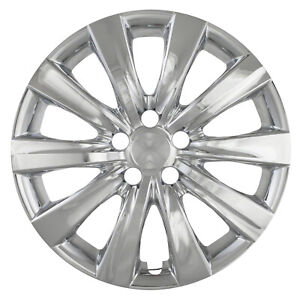 New Set Of 4 16 Chrome Hubcaps Wheel Covers For 2010 2013 Toyota Corolla