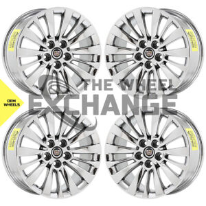 18 Cadillac Cts Pvd Chrome Wheels Rims Factory Oem 14 2020 X4 4715 Exchange