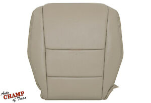 2010 2011 Honda Accord 4 Door Driver Side Bottom Genuine Leather Seat Cover Tan