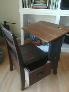 School Desk Chair Antique For Kids