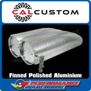 Polished Aluminium Finned Shotgun Scoop Suits Single Or Dual Carb