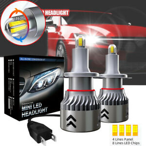 H7 Led Car Headlight Bulbs 8 side Csp Headlight Super Bright 360 Degree Lighting