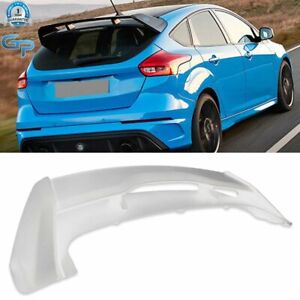 For 2012 2018 Ford Focus St Hatchback Rs Primer Style Rear Roof Spoiler Wing
