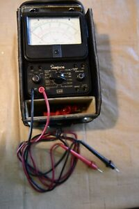 Simpson 260 Volt Ohm Meter With 48 Inch Leads Leather Case