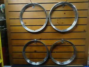 Trim Rings Smooth 14 Ford Chevy Gm Gmc Hot Rod Vintage Stainless Steel 14 Inch