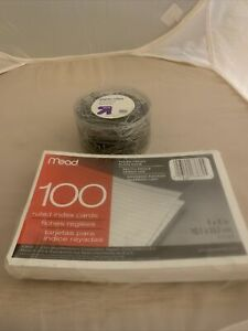 350 Ct Paper Clips 100 Ct 4 X 6 Ruled Index Cards new