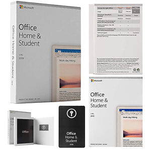 Microsoft Office 2019 1pc Windows 1 License Produst Key Card Home And Student