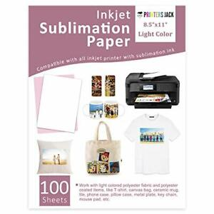 Heat Transfer Paper 100 Sheets 8 5 X 11 Sawgrass Ricoh Printer Sublimation Ink