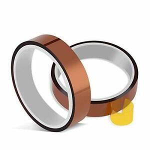 Heat Resistant Tape Set Of 2 Rolls 10mm X 33m 108ft Polyimide Silicone
