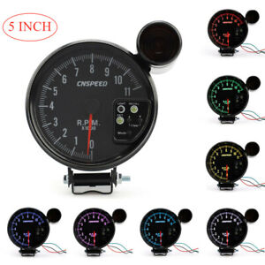 7 Color 11k Rpm Tachometer Led Gauge Shift Light Black Of 5inch 120mm