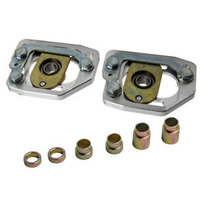 Front 3 Camber 2 Caster Plates Kit For Ford Mustang 1990 91 92 93 Sliver