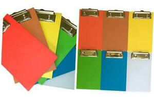 Six Pack Of 4 X 6 Mini Clipboards Rainbow Colors Red Orange Yellow