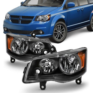 Headlights For 11 17 Dodge Grand Caravan 08 16 Headlamp Chrysler Townampcountry Fits 2011 Chrysler Town Amp Country