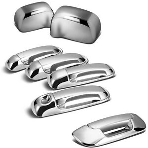 For 02 08 Dodge Ram Chrome 1500 2500 3500 Hd Mirror 4 Door Handle Tailgate Cover