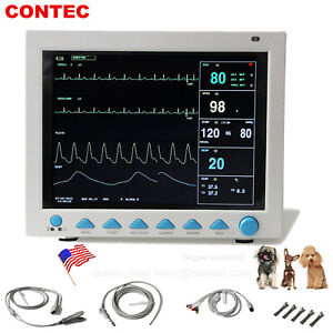 Vet Veterinary Patient Monitor 6 Multiparameter Icu Machine Big Screen us Seller