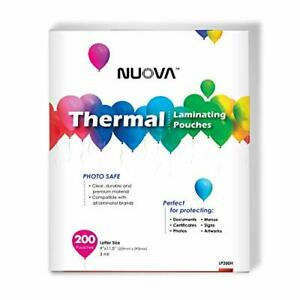Nuova Premium Thermal Laminating Pouches 9 X 11 5 letter Size 3 Mil 200 Pac