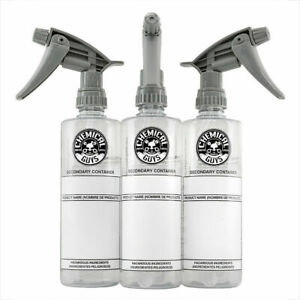Chemical Guys Secondary Dilution Bottle And Heavy Duty Sprayer 16 Oz 3 Pack