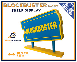 Display Blockbuster Video Shelf Deco For Cinema Movie Collection
