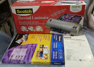 Scotch Tl901 Thermal Laminator 3 10 Mil With About 120 Pouches