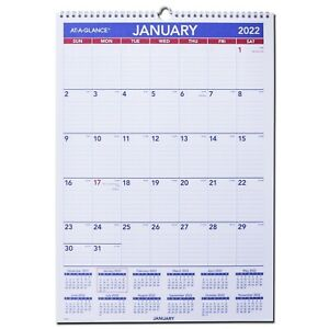 2022 At a glance Pm2 28 Monthly Wall Calendar 12 X 17