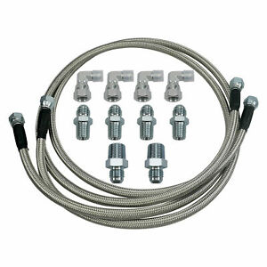 Ss Braided Transmission Cooler Hose Lines Fit For Th350 700r4 Th400 52 Length