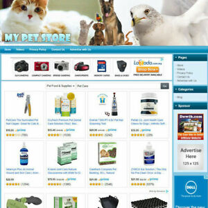 Pet Supplies Store Best Online Affiliate Business Website For Sale Free Domain