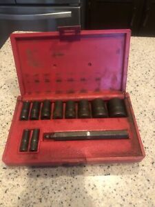 Blue Point Tools 11 Piece Gasket Punch Set 1 4 1 Pgh8a Used