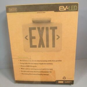 Hubbell Lighting Dual Lite Led Exit Sign Unit Color White Model Eveurwe